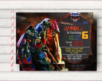 Transformers Birthday Invitation, Transformers Invitation, Transformers Birthday, Transformers Party, Transformers Birthday Party