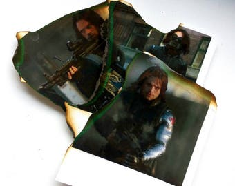 Winter Soldier authentic decorated photos Captain America Avengers Assemble!