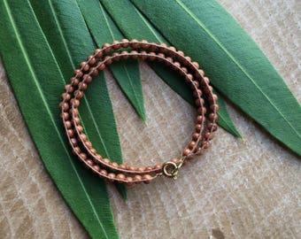 Goldstone    Double Wrap Hemp Bracelet