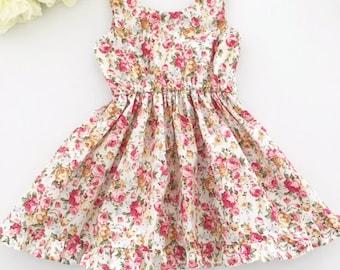 Girls Summer Dress, Floral Dress, Girls Floral Dress, Dress, Toddler Dress, Party Dress, Ruffle Dress