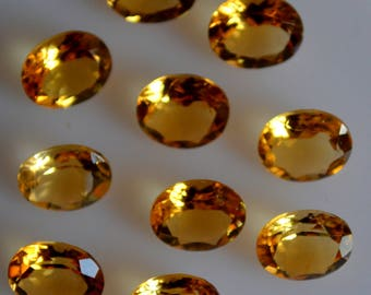 8x10 mm natural citrine oval faceted  loose gemstone AAA quality
