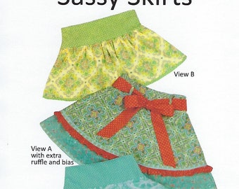 Children's Corner Sewing Pattern #269 / SASSY SKIRTS / Sizes 3 - 5 and 6 - 10