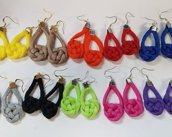 Rope knot earrings