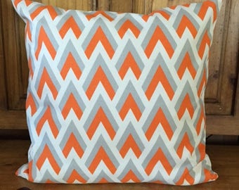 Orange Gray Pillow