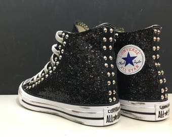 Converse all star personalized with glitter and studs