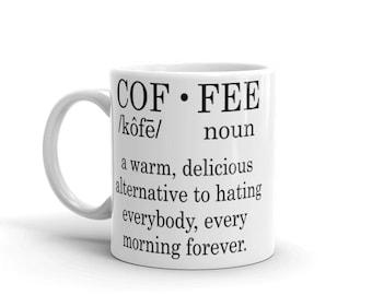 Coffee Dictionary Description Mug