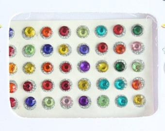 70 Stick On Face Gems,Glitter Face Festival Jewels Sticker,Body Art Accessory,Colored Dot Studs,Festival Gems Bindi/Belly Dance Body Gems