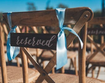 Wedding Reserved Sign | Wedding Decor | Hanging Reserved Sign | Wood Reserved Sign