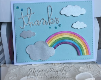 Thank You Card with Rainbow