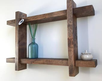 Functional Rustic Wood Shelf