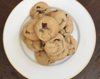 One Dozen Chocolate Chip Cookies | Baked Fresh | Made-to-order | Party Cookies | Birthday Gift | Cookie Delivery |