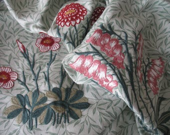 William Morris Lily Embroidery Fabric 55cm
