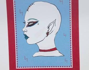 Teens From Mars , Space Oddity Alien, Art print