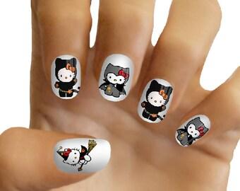 Hello Kitty Halloween Nail Decals