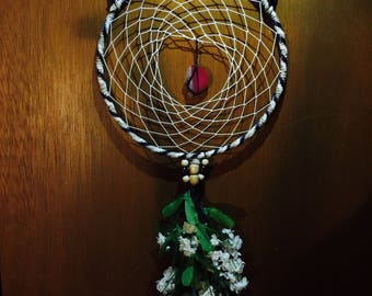 Kitty ear agate dreamcatcher