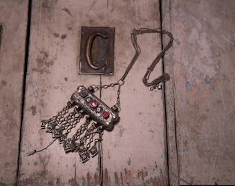 Tribal silver vintage pendant