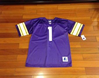 ... VTG NWT starter nfl Warren Moon football jersey size XL Vintage Sewn  Houston Oilers ... 547067d69
