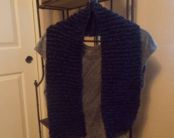 Black and Blue Sparkle Scarf