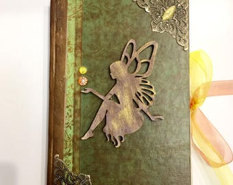 Handmade Journal Steampunk Junk Journal Diary Victorian Shabby Chic Fairy book of shadows witch spell book antique vintage gifts for writers