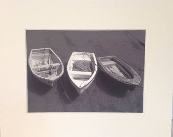 Rowing Boats At Lyme Regis - A Fine Art Giclee Photographic Print.
