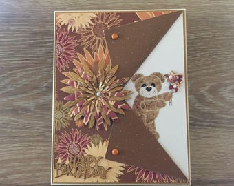 Sweet Teddy Bear Birthday Card