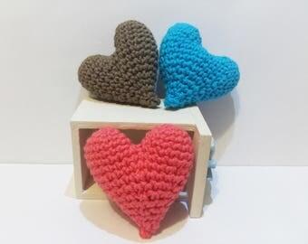 Amigurumi heart crochet handmade