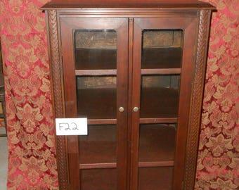 Vintage 5 Shelf Wooden Cabinet