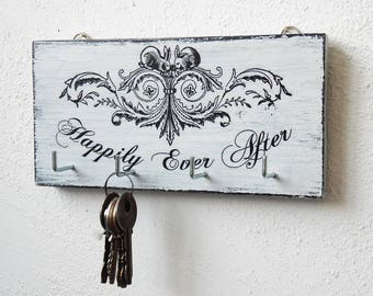 Happily ever after - key holder handmade