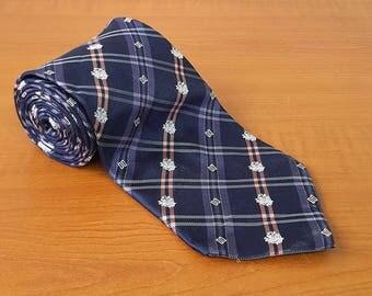 Vintage DAKS Mens Silk Necktie Casual Suit Neck Tie 081