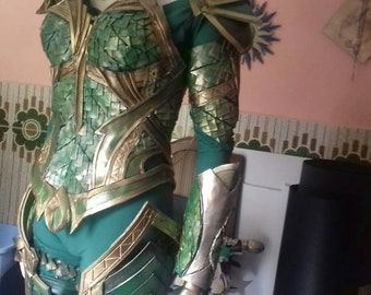 Mera inspired aquamen costume cosplay