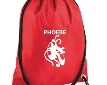 iLeisure Ballet Shoes Print with your Name/Club Printed Gym/PE Dance Bag.