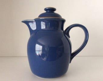 Madera Blue Stoneware Teapot | Noritake | Indonesia | Vintage