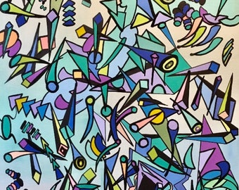 Untitled, Abstract Art, Cubism, Impressionism, Modern Art, All Genres
