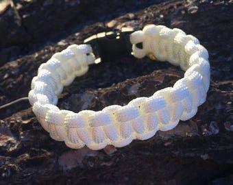 White standard Paracord Clad bracelet