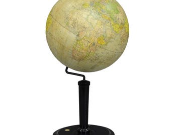 antique vienna earth globe by G. Freytag & Berndt ca.1920
