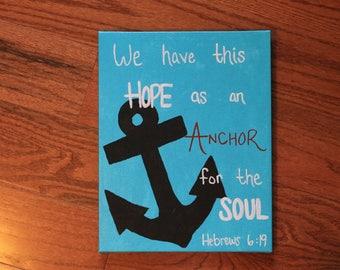 Hebrews 6:19 Scripture Canvas 11x14