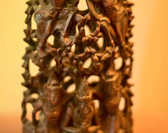 Unique and One-Of-A-Kind Indonesian Wooden Carved Sculpture