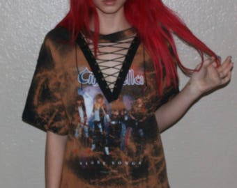 Lace up band tee