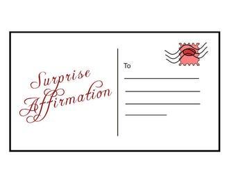 Surprise Affirmation Postcard - Good Vibes ONLY!