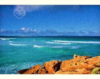 Australian Coastal View. Natural Beauty. Rocky. Blue. Sand. Sea. DIGITAL DOWNLOAD.