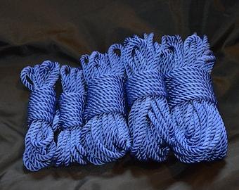 30' Hand Dyed  Blue Nylon Rope