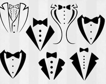 Tuxedo SVG Bundle, Tuxedo clipart, tuxedo cut files, svg files for silhouette, files for cricut, svg, dxf, eps, cuttable design