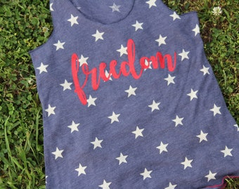 Patriotic Freedom 4th of July Tank