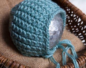 Daniel Newborn Bonnet Pattern,  Knit PDF Pattern, Newborn Hat Pattern, PHOTO shoot prop, Knit, Worsted weight 4, PDF, Newborn hat