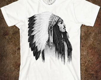 Indian Johnny Depp Art Men's Women's T-shirt