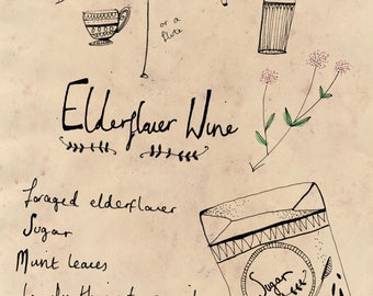 Elderflower Wine Recipe Print