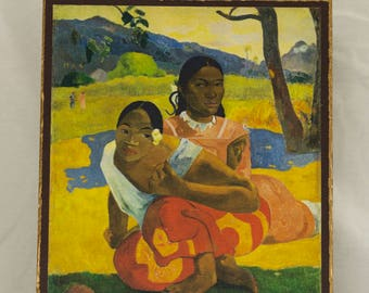 When Will You Marry? Painting by Paul Gauguin, print canvas with handmade finishes, Size 24x20x1.1 cm.