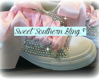 Ultimate Bling Converse shoes- perfect for Bride