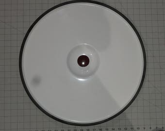 "Maytag Wringer Washing Machine Lid 20"" Wide White with Red Knob"