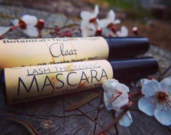 Clear Lash Thickening Mascara/Eyelash Serum/Eyelash Thickening Clear Mascara/Healing Organic Clear Mascara/Vegan Clear Mascara/Botanical